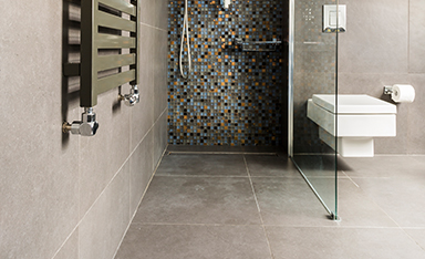 clean shower showing grout and tile cleaning results