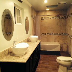 clean house toilet and basin